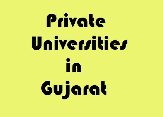 best private universities in gujarat
