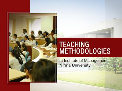 teaching methodologies at Nirma University IMNU